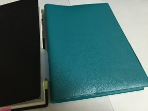 ⑤手帳カバー(エメラルドブルー)
