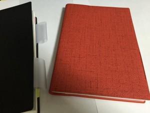 ②手帳カバー(赤・布地調)